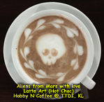 Latte Art - Alien from mars