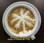 Latte Art - Coconut tree