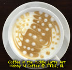 Latte Art - Coffee in middle
