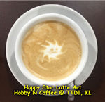 Latte Art - Happy Star