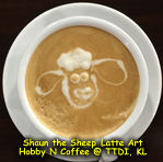 Latte Art - Shaun the sheep