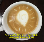 Light Bulb latte art