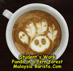 Kunfu Panda Latte Art Singapore